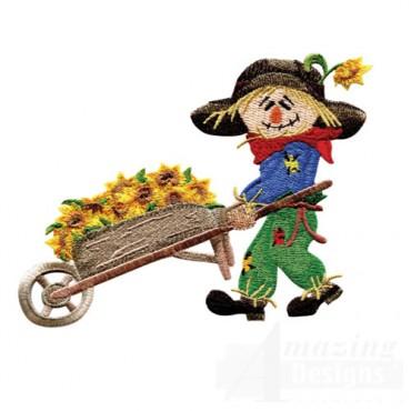 Scarecrow And Wheelbarrow