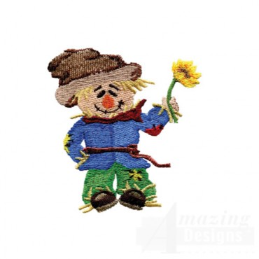 Scarecrow And Flower