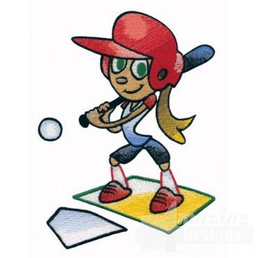 Kid Playing Softball