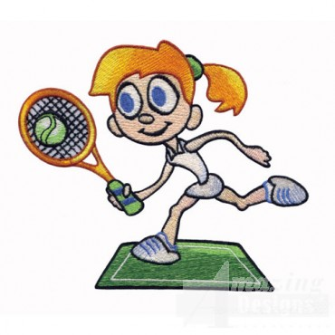 Kid Playing Tennis
