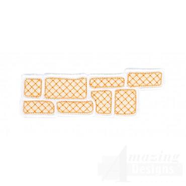 Gingerbread Sidewalk 1 Embroidery Design