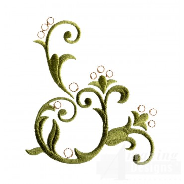 Bsb105 Baroque Swirl 5 Embroidery Design