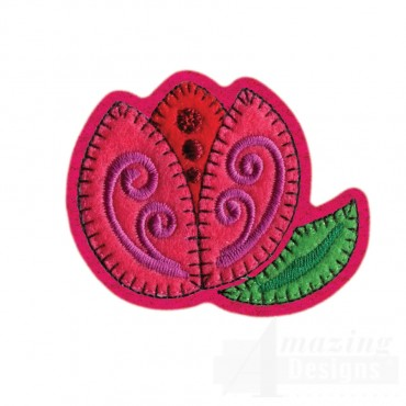 Flower Brooch Embroidery Design