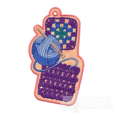 Yarn Ith Novelty Bookmark Embroidery Design