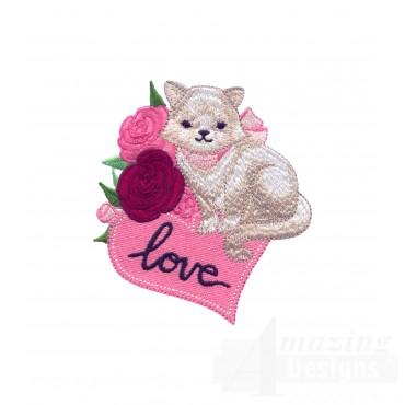 Love101 Puppy Love Embroidery Design