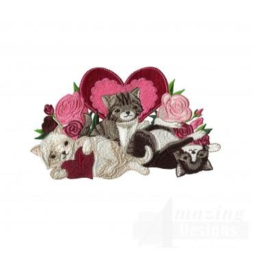 Love123 Puppy Love Embroidery Design