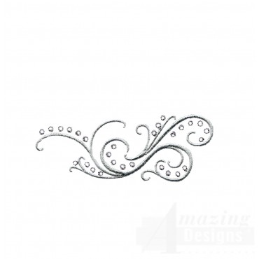 Dazzling Scroll Accent 2 Embroidery Design