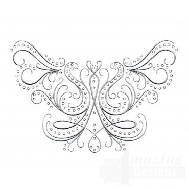 Dazzling Scroll Accent 5 Embroidery Design