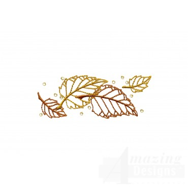 Dazzling Leaf Accent 2 Embroidery Design