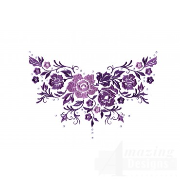 Dazzling Flower Accent 5 Embroidery Design