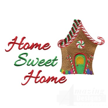 Home Sweet Home Christmas Embroidery Design