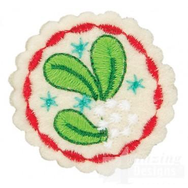 Mistletoe Small Circle Ornament Embroidery Design