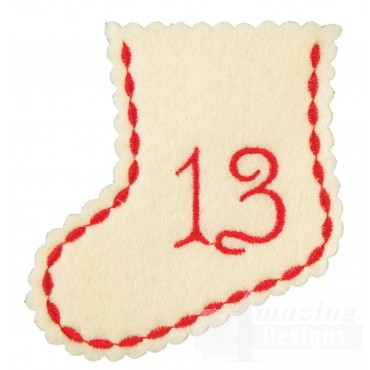 Stocking Ornament Day 13 Embroidery Design