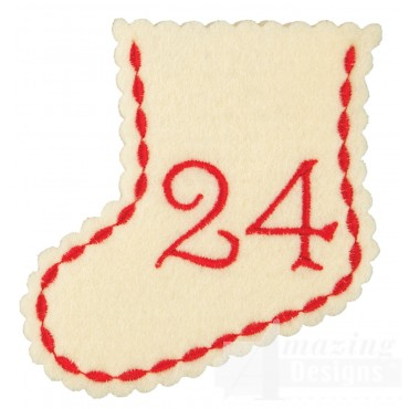 Stocking Ornament Day 24 Embroidery Design