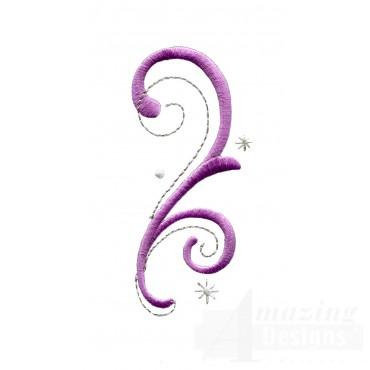 Magical Swirls Embroidey Design