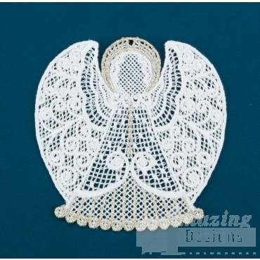 Freestanding Lace Angel 2 Embroidery Design
