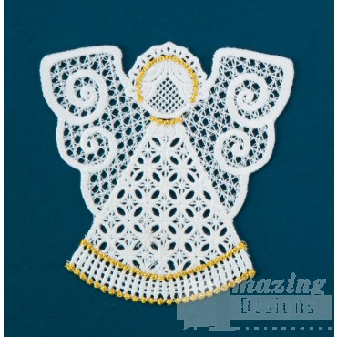 Freestanding Lace Angel 22 Embroidery Design