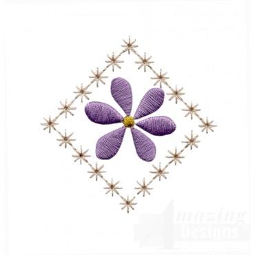 Flowering Eyelet Small Diamond Embroidery Design