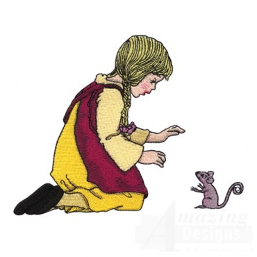Girl and Squirrel