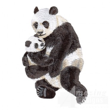 Panda Bear with Cub