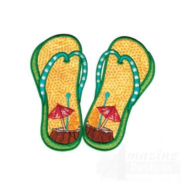 Tropical Drink Flip Flops