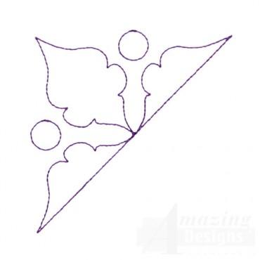 Leaf Corner Quilt Pattern