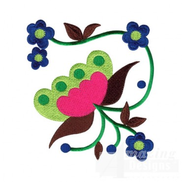Jacobean Flower 6