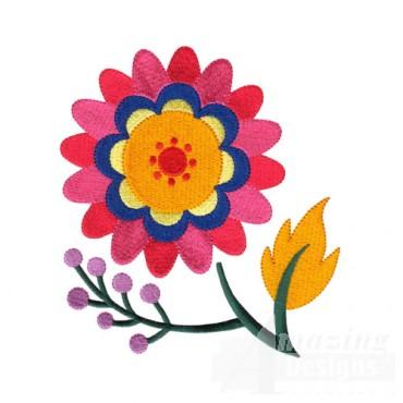Jacobean Flower 11