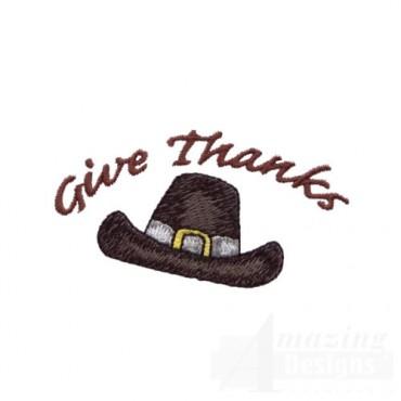 GIVE THANKS PILGRIM HAT
