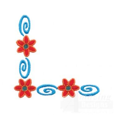 Flower and Swirl Corner