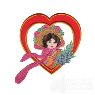 Woman in Heart Frame