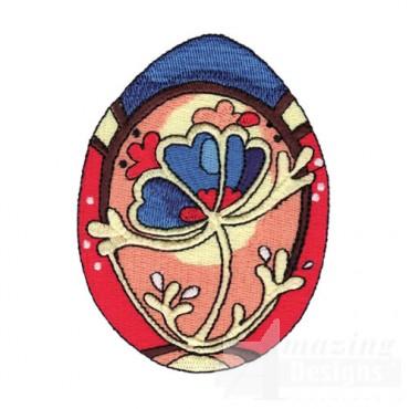 Easter Egg with Floral Design