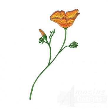 Orange Floral Sprig