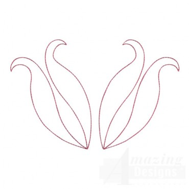 Double Tulip Outline