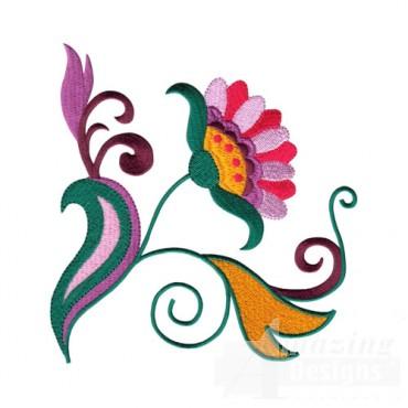Jacobean Floral Design