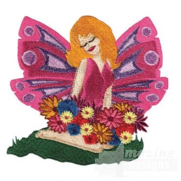 Fairy Sitting In Grass