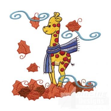 Giraffe in Leaves