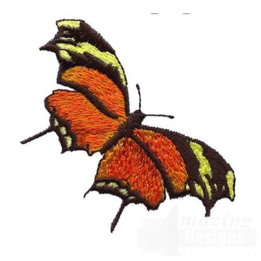 Orange Butterfly with Pointed Wings