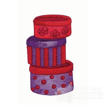 Red and Purple Hat Boxes