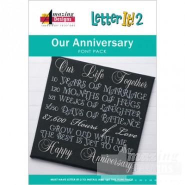 Our Anniversary Font Pack