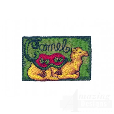 C For Camel Embroidery Design