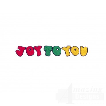 Joy To You Embroidery Design