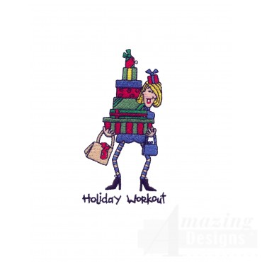 Holiday Workout Embroidery Design