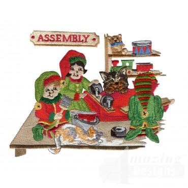 Swnsh201 Santas Workshop Embroidery Design