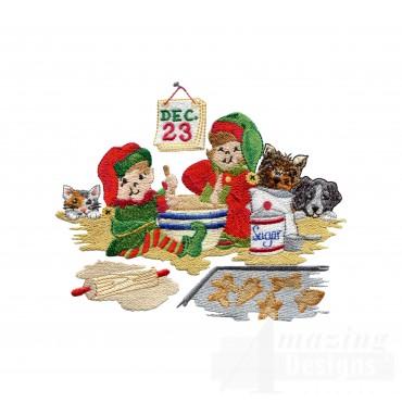 Swnsh208 Santas Workshop Embroidery Design