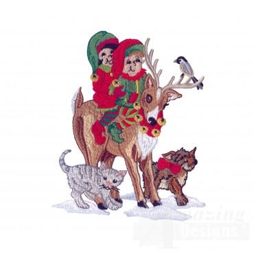 Swnsh231 Santas Workshop Embroidery Design