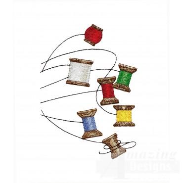 Sew121 Thread Spools Embroidery Design