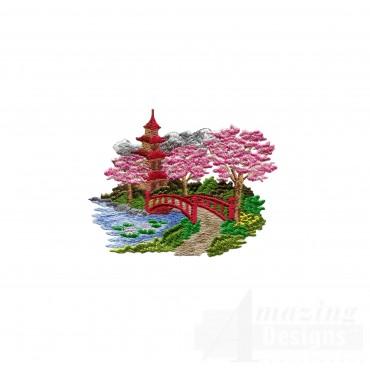 Swngg121 A Geishas Garden Embroidery Design