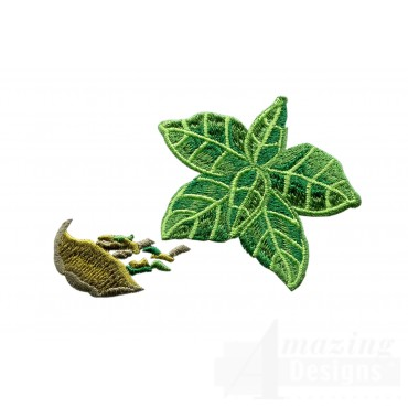 Basil Herb Embroidery Design