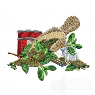 Marjoram Herb Collection Embroidery Design